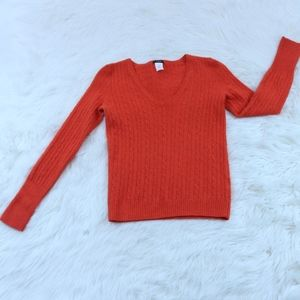 J Crew Cable Knit Pattern Wool Cashmere Sweater